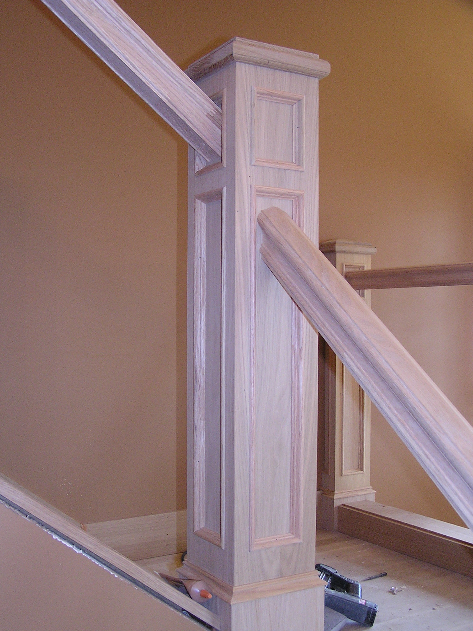 How To Restain Stair Rail | Home Design Ideas
